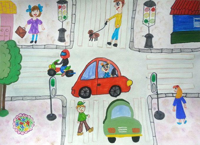 фото детские рисунки пдд